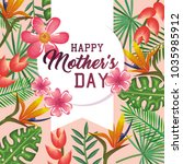 happy mothers day card with...   Shutterstock .eps vector #1035985912