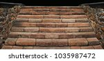 old brick stairs outdoor.... | Shutterstock . vector #1035987472