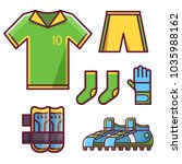 soccer football team uniform... | Shutterstock .eps vector #1035988162