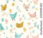 vector seamless pattern with... | Shutterstock .eps vector #1035989182