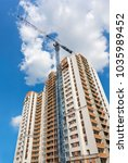 construction of a residential... | Shutterstock . vector #1035989452