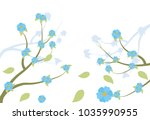 cute flowers pattern background | Shutterstock .eps vector #1035990955
