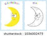 coloring book page for... | Shutterstock .eps vector #1036002475