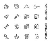 line icon set related of food...