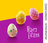 easter design with colorful... | Shutterstock .eps vector #1036013452