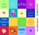 happy father's day | Shutterstock .eps vector #103601492