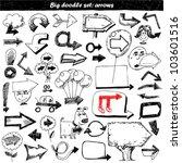 arrow doodles | Shutterstock .eps vector #103601516
