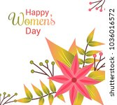 happy women's day card with... | Shutterstock .eps vector #1036016572