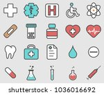 healthcare professional icons... | Shutterstock .eps vector #1036016692