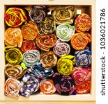 vivid color of more roll...   Shutterstock . vector #1036021786