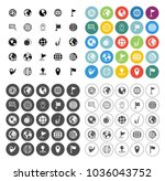 map pin icons set   navigation... | Shutterstock .eps vector #1036043752