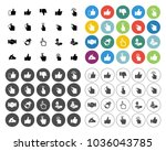 vector hand icons set   human... | Shutterstock .eps vector #1036043785