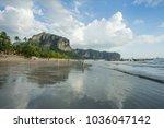 krabi thailand   2 feb 2018 ... | Shutterstock . vector #1036047142
