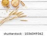 food which rich with slow... | Shutterstock . vector #1036049362