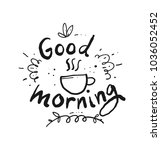 a cup of coffee handwriting | Shutterstock .eps vector #1036052452