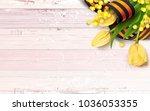 black and orange ribbon of st... | Shutterstock .eps vector #1036053355