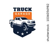 truck car vector logo template... | Shutterstock .eps vector #1036056982