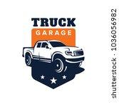 truck car vector logo template... | Shutterstock .eps vector #1036056982