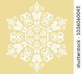 elegant vector round white...   Shutterstock .eps vector #1036060045