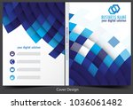 annual report cover design | Shutterstock .eps vector #1036061482