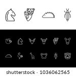 animal icon set and butterfly...