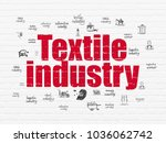 manufacuring concept  painted... | Shutterstock . vector #1036062742