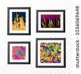 set of realistic minimal... | Shutterstock .eps vector #1036069648