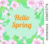 spring flower card | Shutterstock .eps vector #1036073776