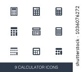 calculator icons set. simple...