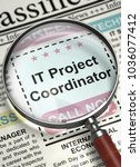 it project coordinator   jobs... | Shutterstock . vector #1036077412