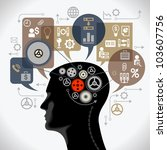 the concept of the information... | Shutterstock .eps vector #103607756