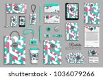 corporate identity template set.... | Shutterstock .eps vector #1036079266