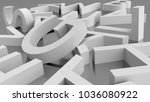 image of white alphabet blocks... | Shutterstock . vector #1036080922
