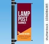 single lamp post banner... | Shutterstock .eps vector #1036086385