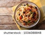 traditional pasta alla... | Shutterstock . vector #1036088848