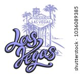 City Of Las Vegas.  Sketch.  The design concept for the tourism industry. Vector illustration.  - stock vector
