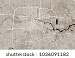 vector map of the city of... | Shutterstock .eps vector #1036091182