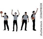 basketball referee  vector | Shutterstock .eps vector #1036098028