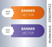 color template vector banner. | Shutterstock .eps vector #1036104412