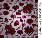 heart pattern. vector... | Shutterstock .eps vector #1036105135