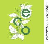 eco   vector illustration.   Shutterstock .eps vector #1036119568