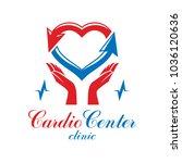 cardiology vector conceptual... | Shutterstock .eps vector #1036120636