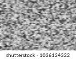 monochrome digital noise... | Shutterstock . vector #1036134322