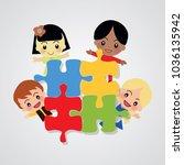 world kids autism awareness day ... | Shutterstock .eps vector #1036135942