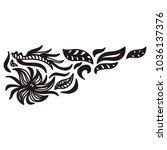nature pattern. vector... | Shutterstock .eps vector #1036137376