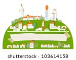 city background and paper... | Shutterstock . vector #103614158