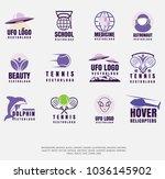 set of different vector icons ... | Shutterstock .eps vector #1036145902