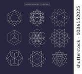 sacred geometry vector design...   Shutterstock .eps vector #1036152025