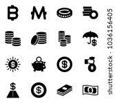 solid vector icon set   bitcoin ... | Shutterstock .eps vector #1036156405