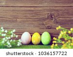 blank sheet with easter... | Shutterstock . vector #1036157722